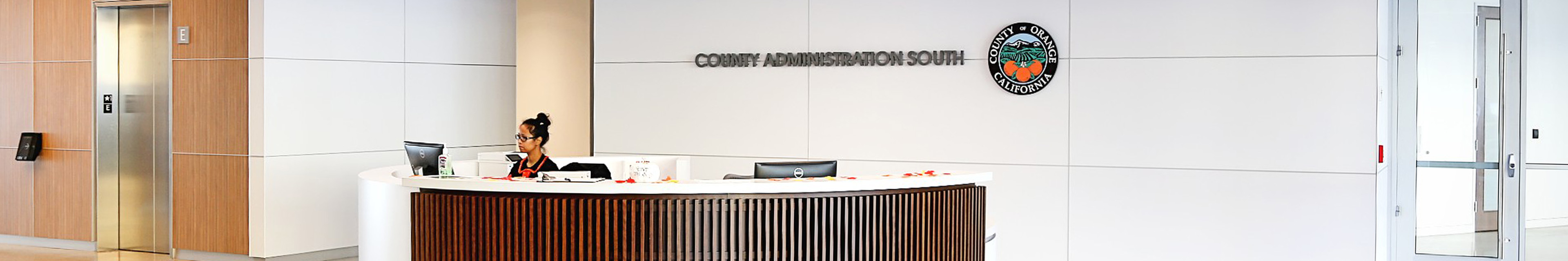 County Administration South Reception Desk